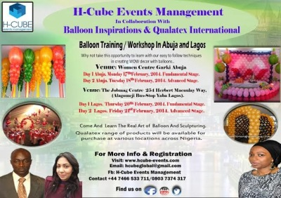 Balloon Decoration Training comes to Lagos and Abuja
